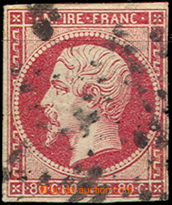 41916 - 1853 Mi.16 Emperor Napoleon III., darker shade, R close marg