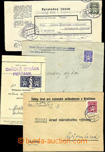 42018 - 1947-48 comp. 4 pcs of entires franked with. service stmp Po