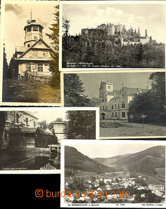 42024 - 1920-37 BOHEMIAN FOREST - comp. 9 pcs of photo postcard, con