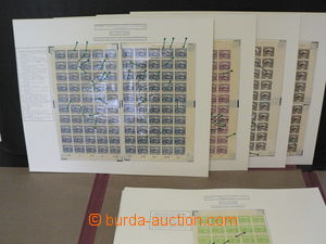 42113 - 1918 CZECHOSLOVAKIA 1918-39  collection sheets and parts of