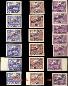 42117 - 1920 1920 I.issue 19pcs. 6 complete sets,  Pof.6x L1, 6x L2