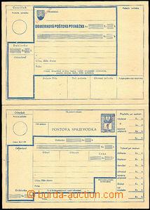 42167 - 1945 CDP19 dobírková poštovní poukázka s poštovní pr�