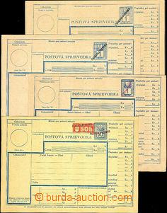 42169 - 1945 sestava 4ks slovenských kolkovaných poštovních prů