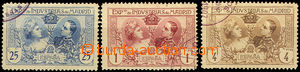 42246 - 1907 Mi. I.c, e, f, výstavní známky, jen 3ks, stopy nále