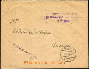 42289 - 1919 Pomocný výbor legionářský při ministerstvu Národ