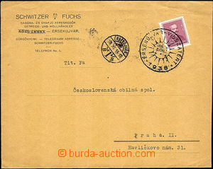 42315 - 1938 commercial letter franked with Hungarian stmp 32f with