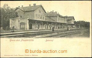 42319 - 1906 Nezamyslice  čb jednozáběrová, nádraží, DA, prošlé, vel