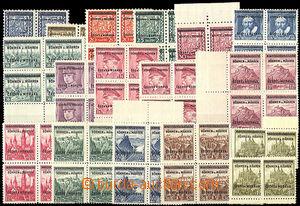 42381 - 1939 Pof.1-16 ve 4-blocích, ale hodnota 1,60Kč 4 jednotliv