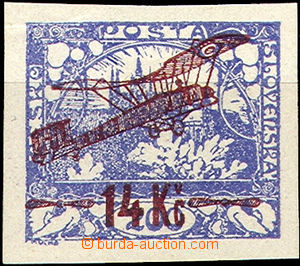 42408 - 1920 Pof.L1, exp. by Stupka.., small wrinkle in paper, c.v..