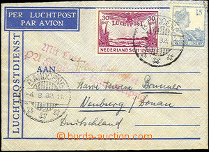 42426 - 1932 air-mail letter small format with Mi.181 and Mi.171 add