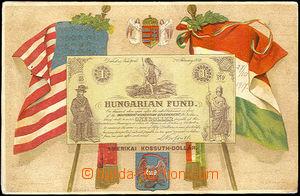 42534 - 1917 Amerikai Kossuth-Dollár, coats of arms and flags USA a