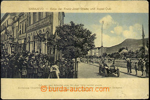42536 - 1914 Sarajevo - place of assassination, corner Franz-Josef-S