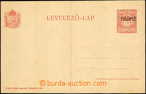 42566 - 1918 Hungarian PC 10f with overprint FIUME, Mi.P5, superb