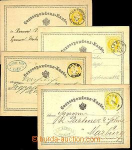 42575 - 1870-75 sestava 4ks žluťásků, Mi.P1 + 3x P2, DR Eger, Pe