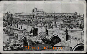 42599 - 1918 plechová postcard from Prague, evidently Us, unstuck s