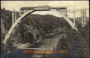 42602 - 1927 Bechyně - stavba železobetonového mostu, prošlá, o