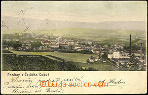 42603 - 1905 Český Dub - general view, factory; long address, Us,