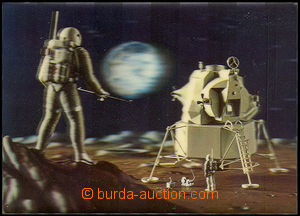42604 - 1970 landing astronautů USA on the Moon, prostorová postca