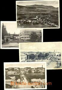 42608 - 1928-38 soubor 4ks pohlednic (3x Užhorod, 1x Jasiňa), náměst
