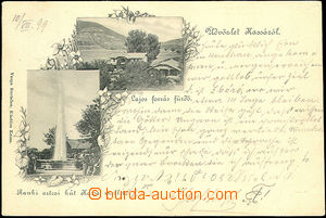 42627 - 1899 Herlany - gejzír and buildings; long address, Us, bump