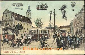 42636 - 1907 Bruck a.d. Leitha v budoucnosti, barevná koláž, pro�