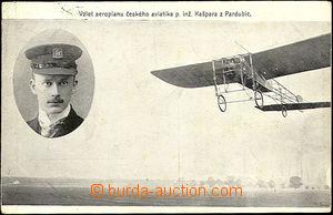 42637 - 1910 Take-off aeroplane Czech aviator p. engineer. Kašpar f