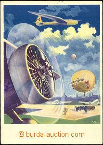 42638 - 1939 Horkovzdušný balloon Hermann Göring, color,  on reve