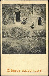 42652 - 1920 Košice - gipsy hut,  B/W, Un, light dirty, bumped corn