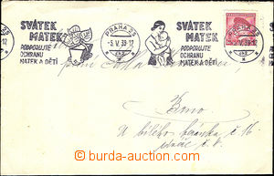 42655 - 1939 letter with print machine advertising postmark Mother's