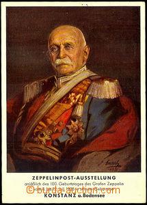 42656 - 1938 count Zeppelin, color painted portrait (author Emerich)