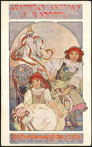 42663 - 1913 MUCHA Alfons (1860–1939), Krajinská výstava v Ivančicíc