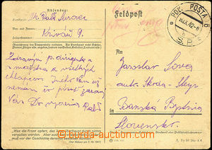 42676 - 1942 German card Field Post with cancel. Field. Post 6/ S.P.