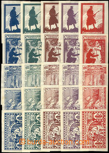 42701 - 1919 comp. 5 pcs of designes on/for legionaire stamps in 5 v