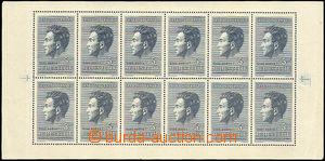 42704 - 1951 Pof.PL574, J.Fučík, odřené růžky + lom v levém o