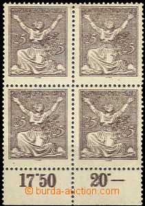 42721 - 1920 Pof.152, double impression, the bottom block of four wi