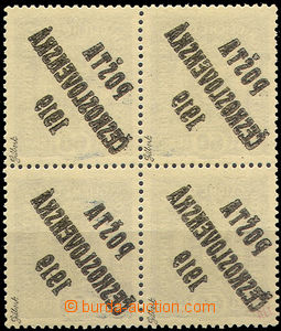 42724 -  Pof.44a as blk-of-4 with full overprint offset, exp. by Gil