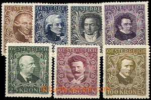 42744 - 1922 Mi.418-24, Composers, complete set, mint never hinged,