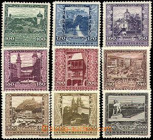 42745 - 1923 Mi.433-41, Zemská hlavní města, kompletní řada, svěží,