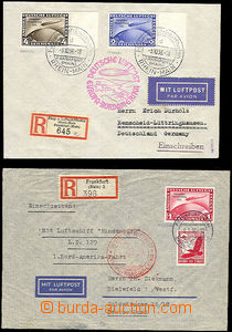 42780 - 1936 DEUTSCHLAND  2ks R + Leteckých dopisů vyfr. Zeppelino