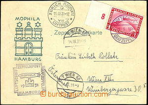 42781 - 1931 Zeppelin-card from philatelic exhibition Mophila Hambur
