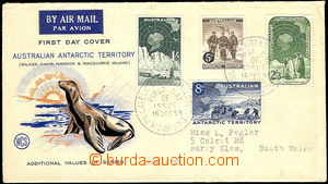 42782 - 1959 FDC with 4 stamp. Mi.2-5, addressed to to London; wrink