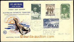 42782 - 1959 FDC se 4 zn. Mi.2-5, adresováno do Londýna; omačkané ok