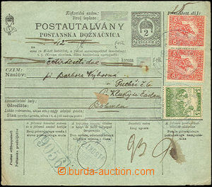 42809 - 1918 Hungarian postal order 2f without L cut, Hungarian-Slov
