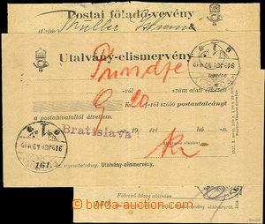 42811 - 1918-19 sestava 3ks různých maďarských formulářů  - stvrzenk