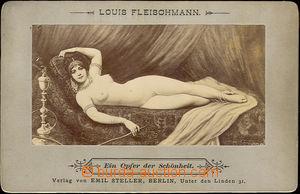 42847 - 1898 kabinetní akt (ležící žena s vodní dýmkou), auto