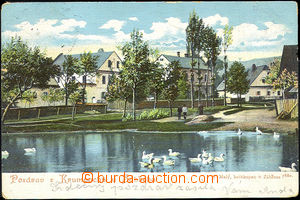 42884 - 1903 Krumpach by/on/at Zábřeha, color view of part of the