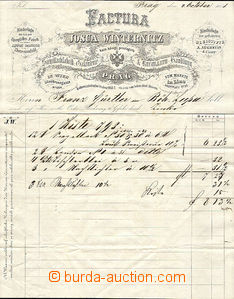 42910 - 1858 invoice Josua Vinternitze from Prague, nice decorated,