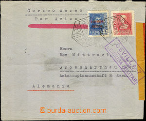 42929 - 1938 airmail letter from period of civil war to Germany, wit