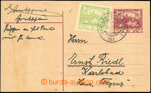 42979 - 1919 CDV10 with uprated with stamp Pof.3 with print Austrian