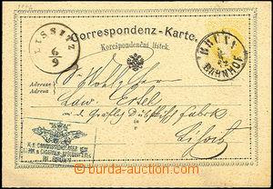 42983 - 1872 dopisnice žluťásek Mi.P9 (německo - česká mutace)